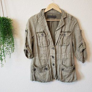Zara Basic Military Safari Style Utility Jacket